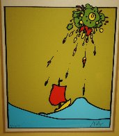 Little Sailboat AP 1974 (Vingage) Limited Edition Print by Peter Max - 2