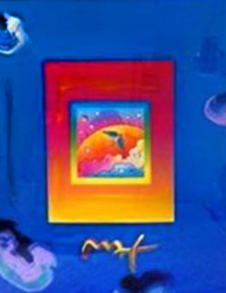Angel With Clouds on Blend Unique 2008 27x31 Works on Paper (not prints) by Peter Max