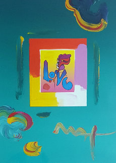 Love   Unique 2008 23x27 Works on Paper (not prints) by Peter Max