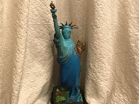 Statue of Liberty Bronze Sculpture 1990 22in Sculpture by Peter Max - 1