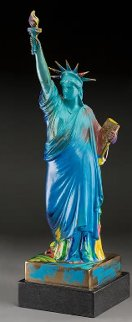 Statue of Liberty Bronze Sculpture 1990 22in Sculpture by Peter Max