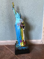 Statue of Liberty Bronze Sculpture 1990 22in Sculpture by Peter Max - 3