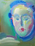 Neo Head 2000 48x36 Original Painting - Peter Max