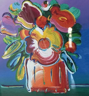 Abstract Flowers 1 2011 Limited Edition Print - Peter Max