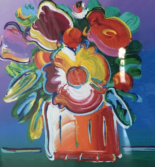 Abstract Flowers 1 2011 Limited Edition Print by Peter Max