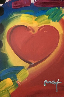 Heart Series  2006 48x37 Works on Paper (not prints) by Peter Max