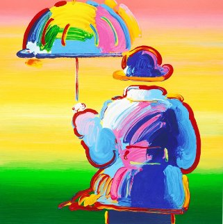 Umbrella Man on Blend Ver. XV 2012 Limited Edition Print - Peter Max