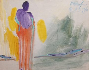 Untitled Figure Original  Acrylic on Canvas Original Painting by Peter Max