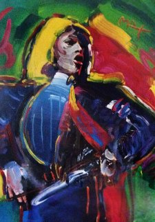 Mick Jagger Unique  2003 45x31    Works on Paper (not prints) by Peter Max