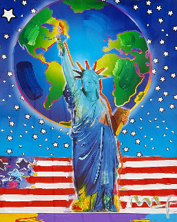 Peace on Earth Unique 2001 24x18 Works on Paper (not prints) by Peter Max