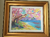Cherry Blossom  2014 25x29 Original Painting by Peter Max - 1