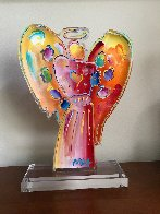 Angel with Heart Acrylic Scupture Unique 2015 25 in Sculpture by Peter Max - 1