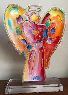 Angel with Heart Acrylic Scupture Unique 2015 25 in Sculpture by Peter Max - 0