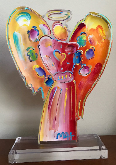 Angel with Heart Acrylic Scupture Unique 2015 25 in Sculpture by Peter Max
