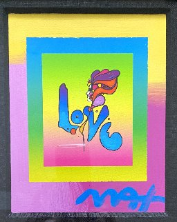 Love on Blends 2006 8x9 Works on Paper (not prints) - Peter Max