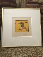 Entering Yellow  1973 (Vintage) Limited Edition Print by Peter Max - 2