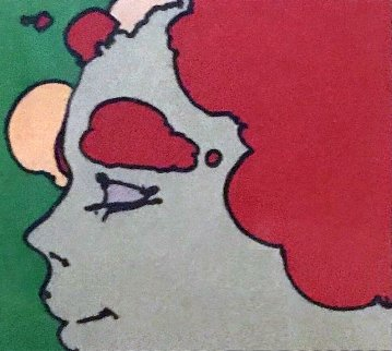 Being Content 1973 12x12 Limited Edition Print by Peter Max