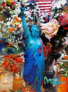 Land of the Free, Home of the Brave  Unique 37x31 Works on Paper (not prints) by Peter Max