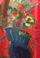 Vase 1988 52x40 Super Huge Original Painting by Peter Max - 0