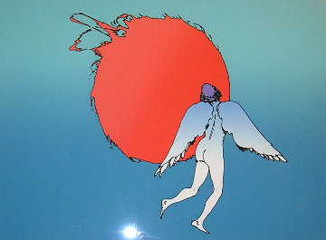 Encounter (early work 1979) Limited Edition Print by Peter Max