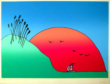 Morning Arrival (early) 1978 Limited Edition Print - Peter Max