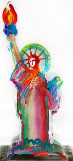 Statue of Liberty Acrylic Sculpture  Unique 2016 15 in Sculpture - Peter Max
