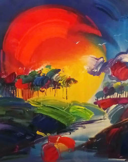 Without Borders II Unique 2006 51x39 Works on Paper (not prints) by Peter Max