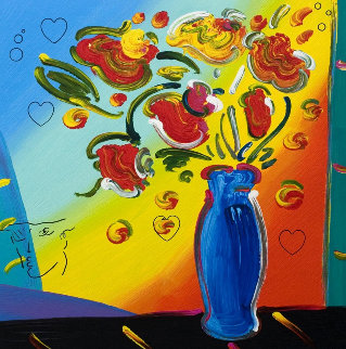 Vase of Flowers 2011 Limited Edition Print by Peter Max