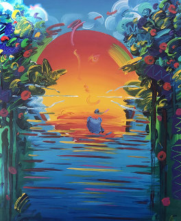 Better World 1995 36x24 Original Painting - Peter Max