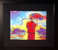 Umbrella Man At Sea / Umbrella Man With Landscape  Unique 30x34 2005 Original Painting by Peter Max - 1