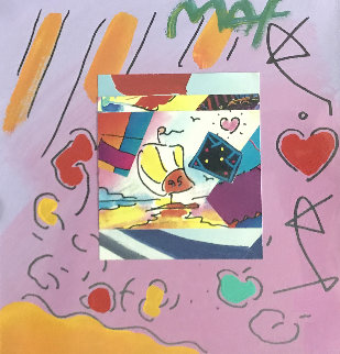 Sailboat Collage I 18x17 Works on Paper (not prints) - Peter Max