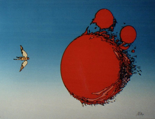 Ball of Fire 1972 Limited Edition Print by Peter Max