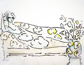Lady on the Couch 1974 (Vintage) Limited Edition Print - Peter Max