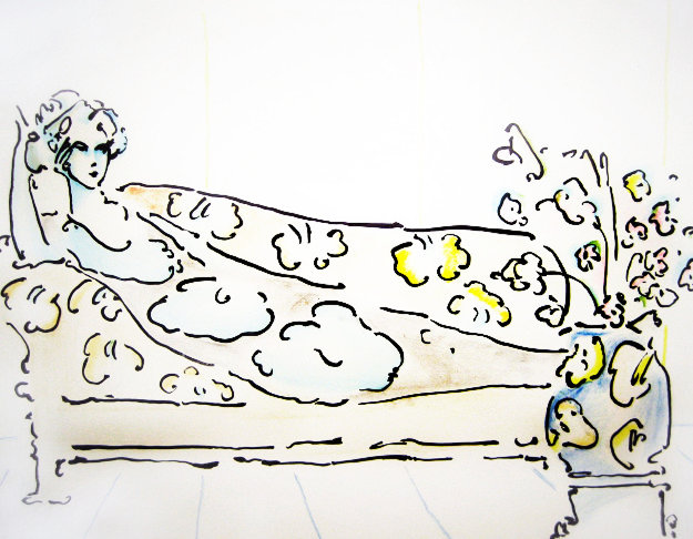 Lady on the Couch 1974 Limited Edition Print by Peter Max