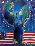 Peace on Earth II Unique 24x18 Works on Paper (not prints) - Peter Max