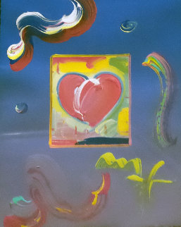 Heart 24x20 Works on Paper (not prints) - Peter Max