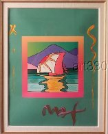 Sailboat East Unique 2006 30x26 Works on Paper (not prints) by Peter Max - 2