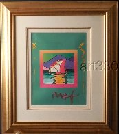 Sailboat East Unique 2006 30x26 Works on Paper (not prints) by Peter Max - 4