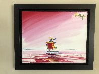 Sailboat Series XIII Ver. II #1 2003 20x24 Original Painting by Peter Max - 1