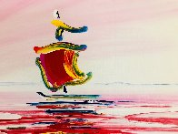 Sailboat Series XIII Ver. II #1 2003 20x24 Original Painting by Peter Max - 2