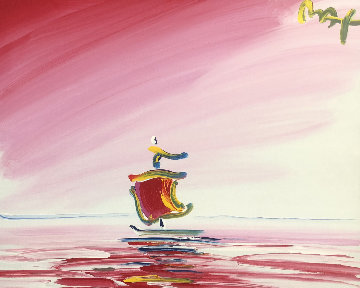 Sailboat Series XIII Ver. II #1 2003 20x24 Original Painting - Peter Max