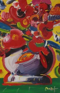 Flowers 2010 36x24 Original Painting by Peter Max