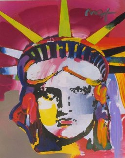 Liberty Head 2012 30x24 Works on Paper (not prints) - Peter Max