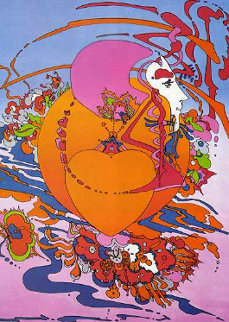 Heart Orange 1999 Limited Edition Print by Peter Max