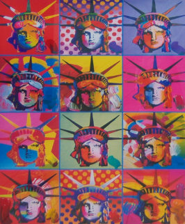 Liberty and Justice For All Unique 24x18 Works on Paper (not prints) by Peter Max