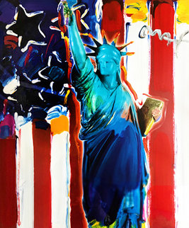 United We Stand II Unique 2005 24x18 Works on Paper (not prints) by Peter Max