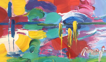 Four Seasons Series: Summer - Autumn Unique 2007 27x45 Works on Paper (not prints) by Peter Max