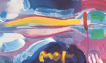 Four Seasons Series: Winter - Spring  Unique 2007 27x45 Works on Paper (not prints) by Peter Max