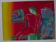 Degas Man 36x48 Super Huge Original Painting by Peter Max - 1