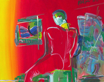 Degas Man 36x48 Original Painting - Peter Max